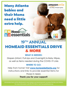 2020 Essentials Drive Flyer HomeAid