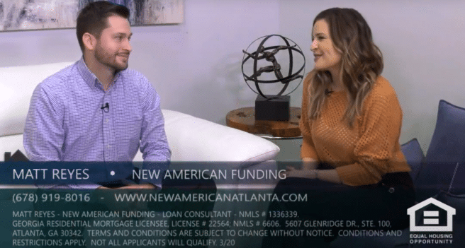 Matt Reyes with New American Funding on Atlanta's Best New Homes on tax returns