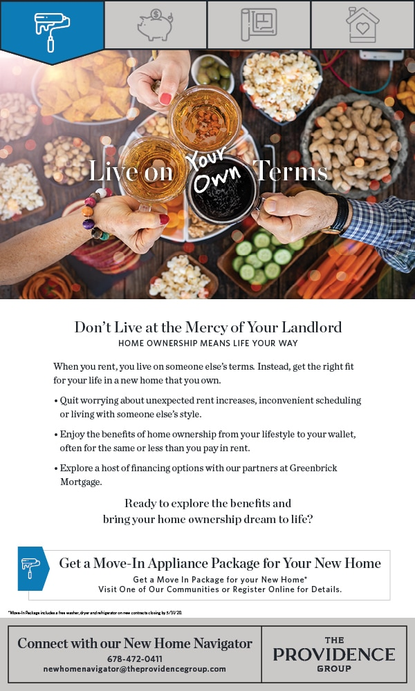 Move-In Appliance Package Available from The Providence Group*