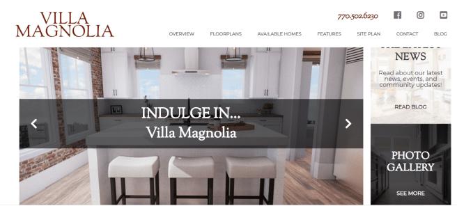 Villa Magnolia Landing Page