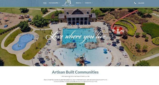 Artisan Built Communities Website