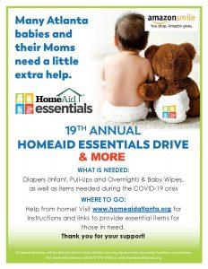 HomeAid Atlanta Essentials Drive Full Flyer