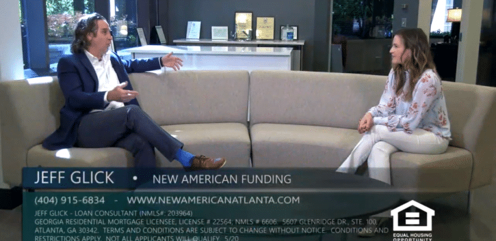 Jeff Glick with New American Funding 0% Down Program