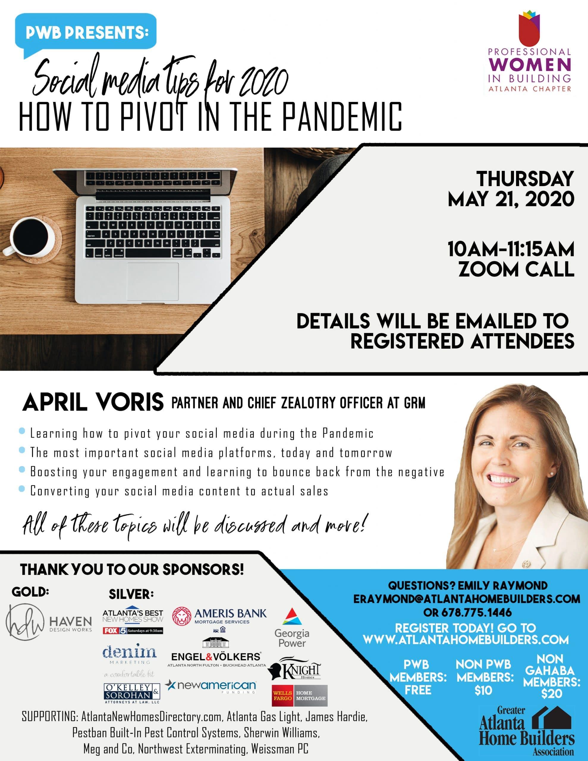 PWB Atlanta to Host First Virtual Program Meeting