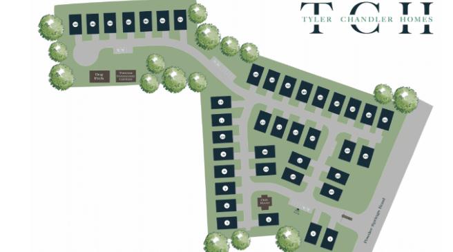 Site Map of Pevensie Preserve Marietta new homes