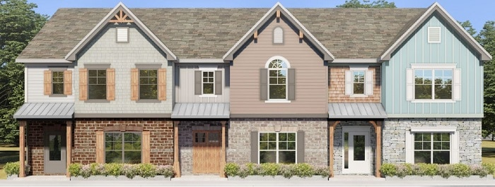rendering of new townhomes in Covington