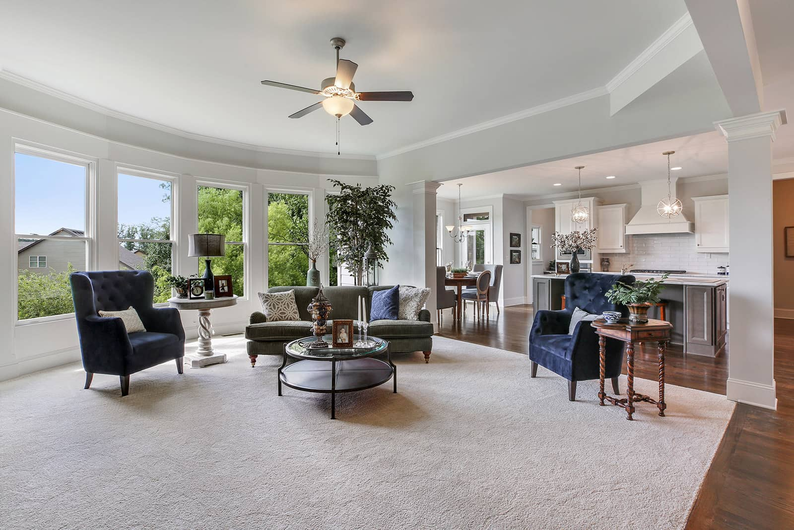 lakeside living home featuring open concept main living area
