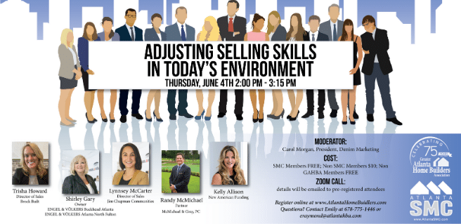 Atlanta SMC to Present Adjusting Selling Skills in Today's Environment