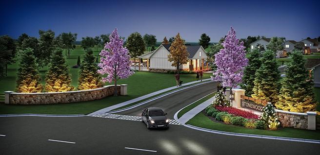 SR Homes new Watkinsville homes Stonewood Rendering