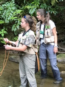 Trout Unlimited Youth practice fly fishing
