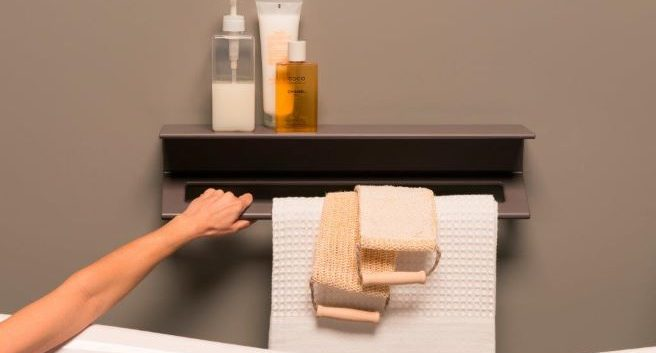 Design By Intent Introduces ThermoMat Italy New Multifunctional grab bar shelf combo