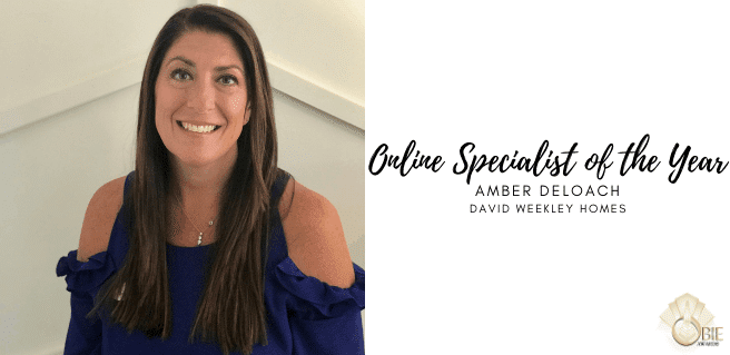 Amber DeLoach with David Weekley Named Online Specialist of the Year