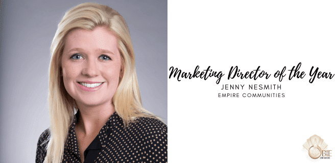 Jenny NeSmith at Empire Communities: Marketing Director of the Year