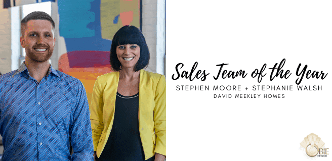 Moore, Walsh with David Weekley Homes Named Sales Team of the Year