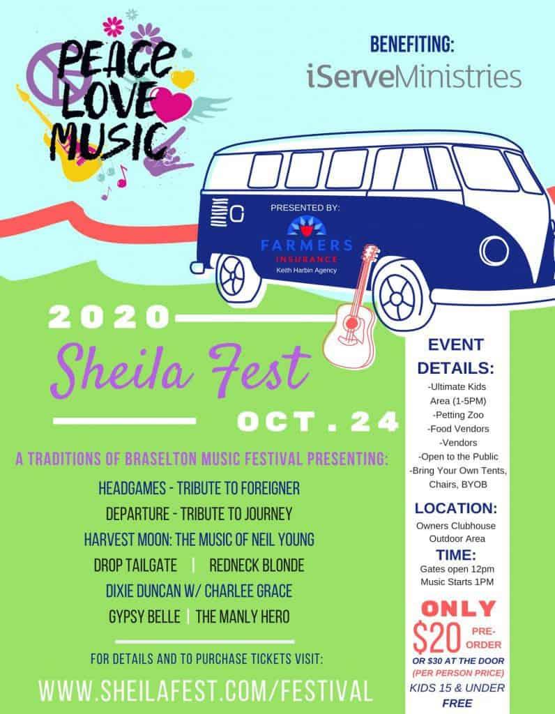 Sheila Fest 2020 Event Flyer
