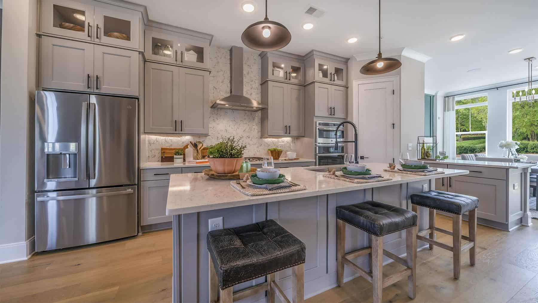 The Kitchen in the Model at DWH Ellison Park in Sandy Springs