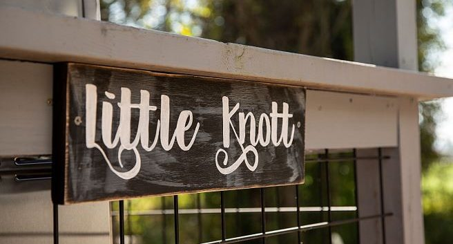 Little Knot Cabin Sign North Georgia Rental Cottages