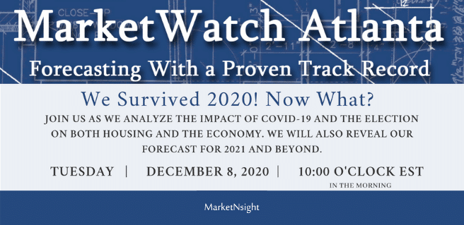 Join MarketNsight for Second Virtual MarketWatch Atlanta