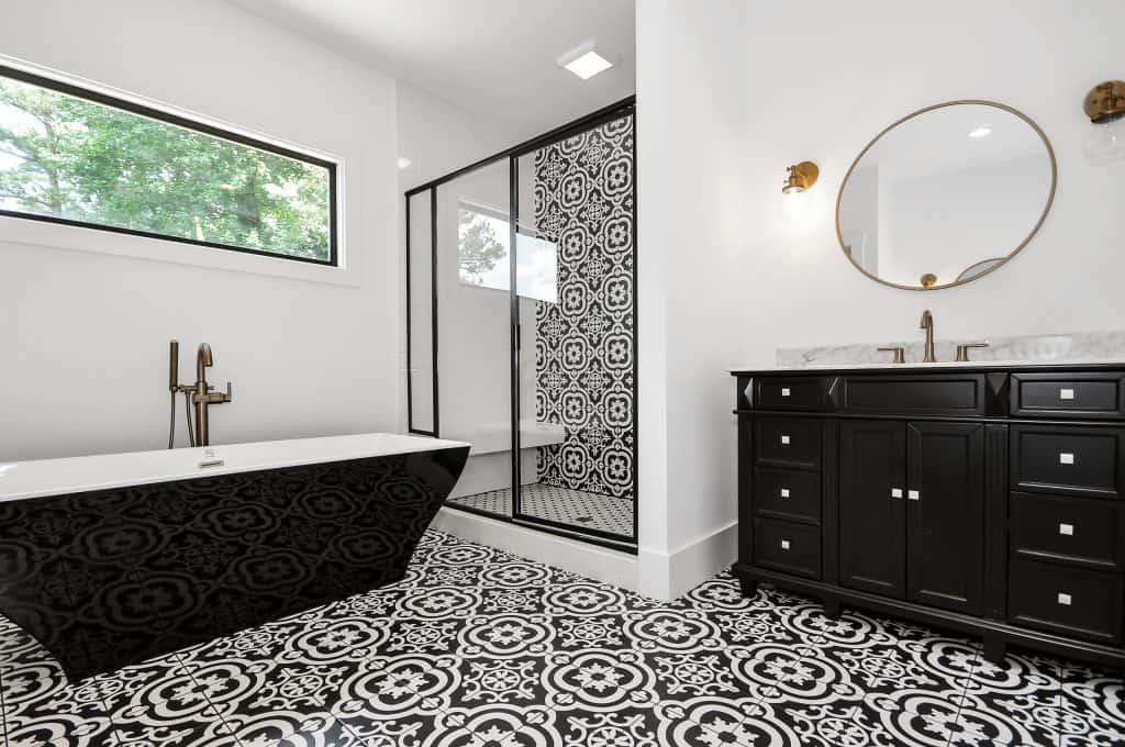 custom bathroom by Level Craft Construction