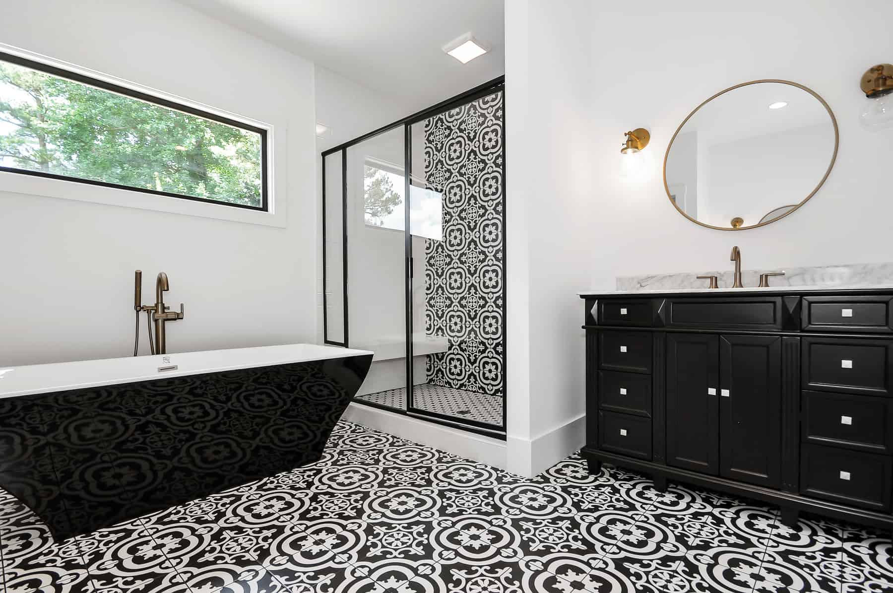 custom bathroom by Level Craft Construciton