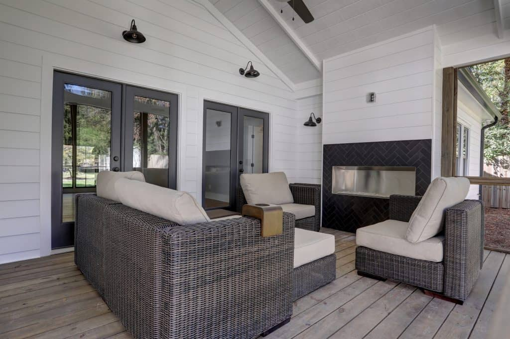 exterior renovation with screened porch