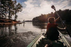 Kayaking on Lake Lanier in Buford