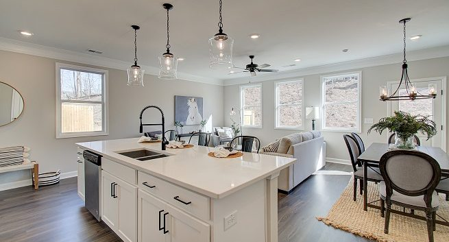 Brooks model home at Edgemoore at Milford