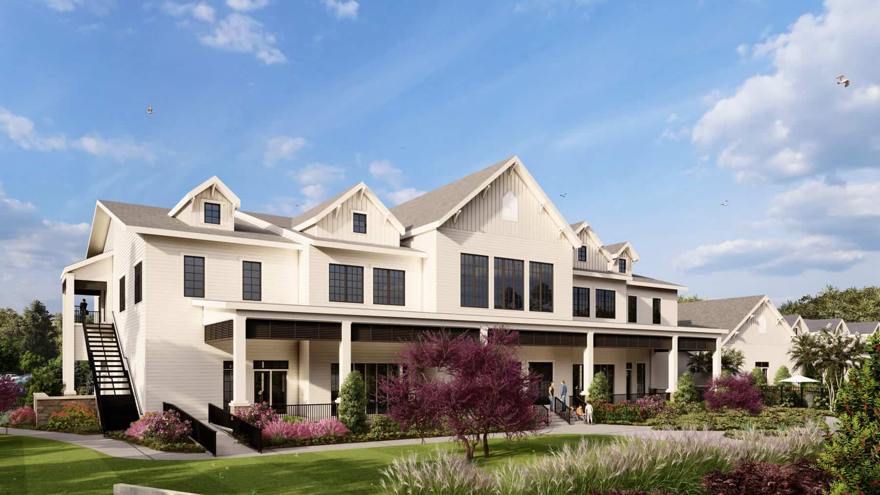 cresswind georgia at twin lakes clubhouse rendering rear view
