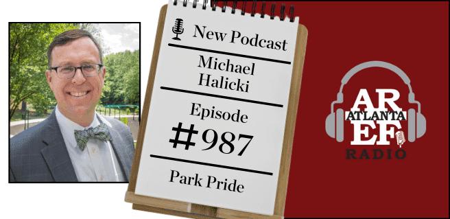 Michael Halicki with Park Pride