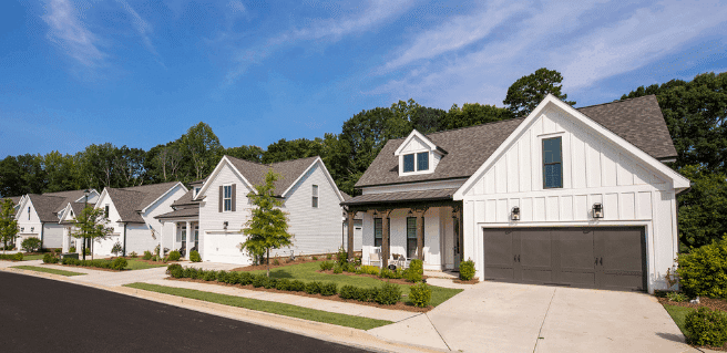 idylwilde streetscape new canton homes