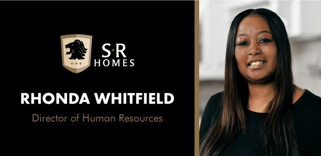 graphic announcing Rhonda Whitfield as the new Director of Human Resources at SR Homes
