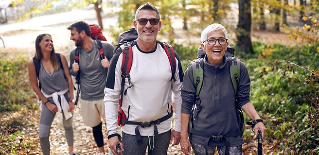 image showing a couple hiking as an example of Ways to Get Outside, Parks to Explore in Metro Atlanta