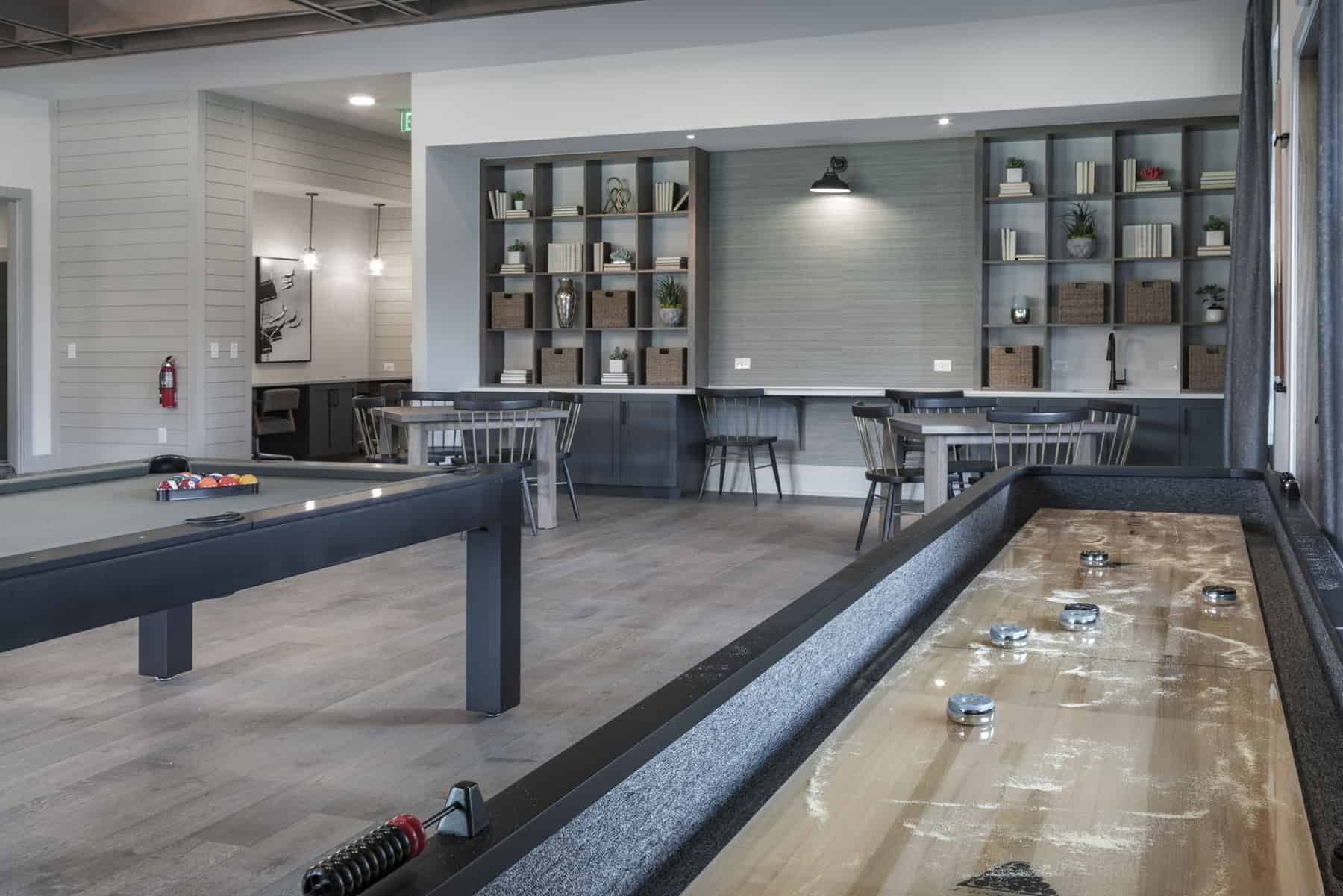 game room at olea at nocatee designed by crosby design group