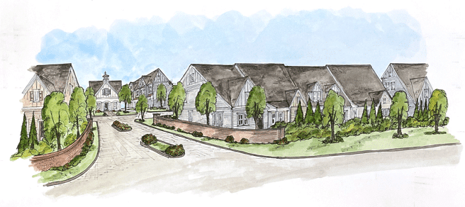 Haven at Stanley Streetscape Rendering