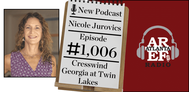 Nicole Jurovics with Cresswind Georgia at Twin Lakes active adult amenities
