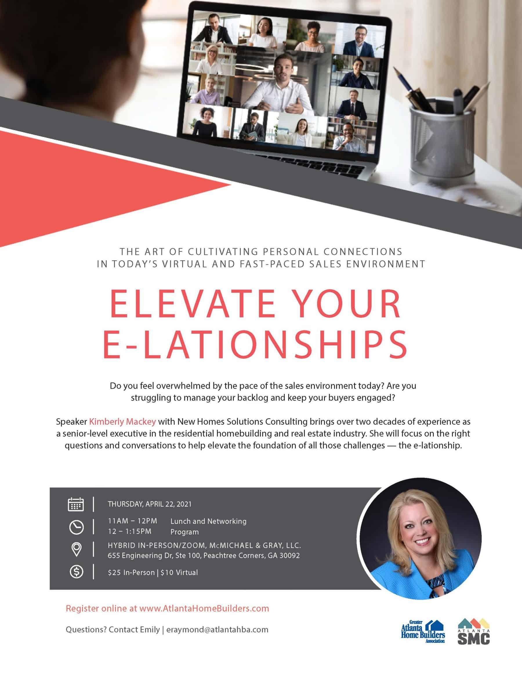 Atlanta SMC Elevate Your E-Lationships with Kimberly Mackey flyer