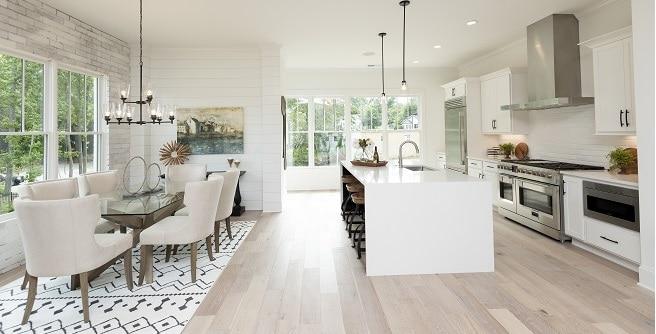 white kitchen at Villa Magnolia