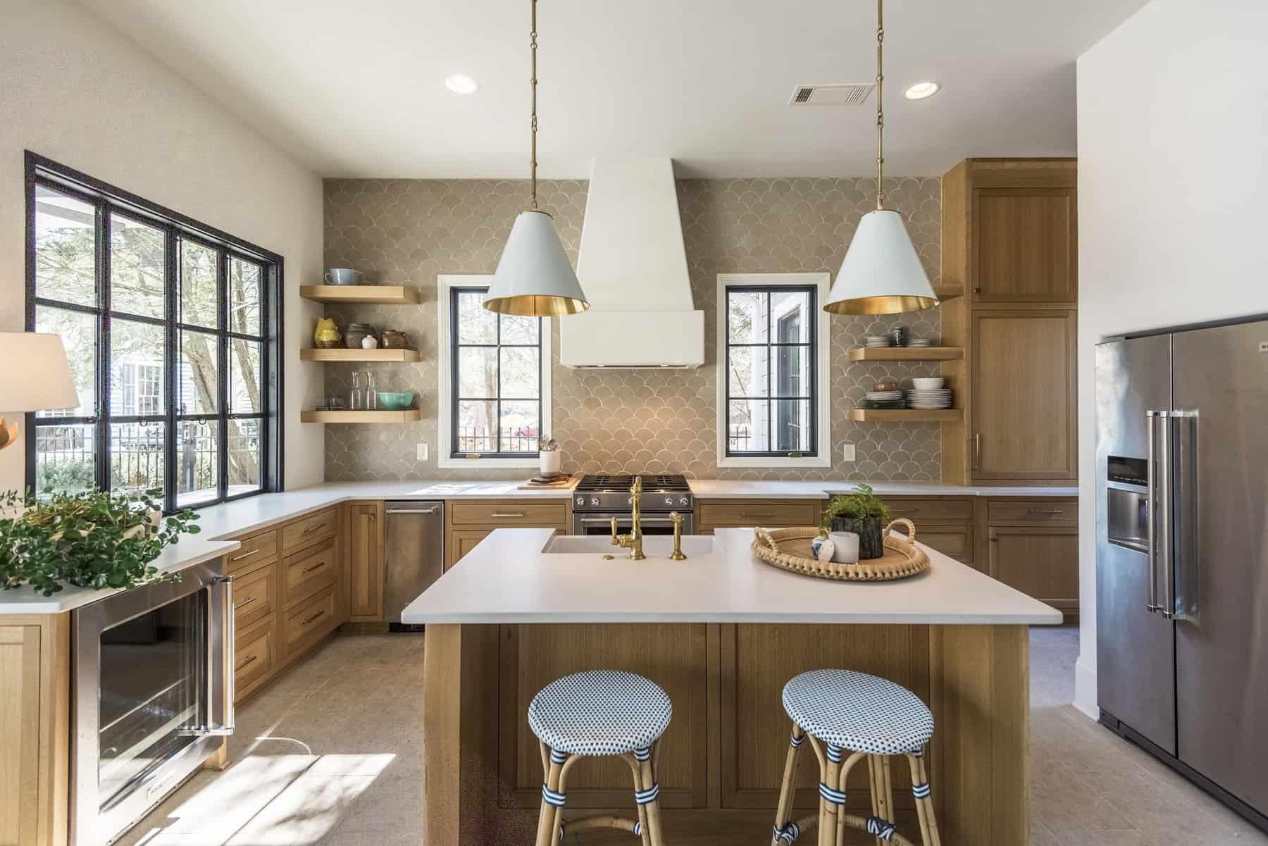 custom pool house gourmet kitchen by Womack Custom Homes