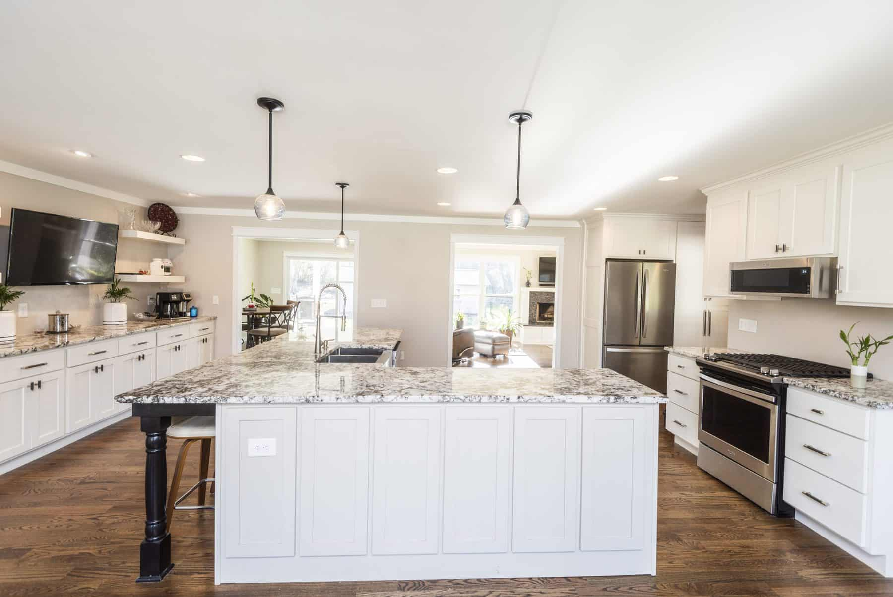 gourmet kitchen at remodel and house addition in cartersville