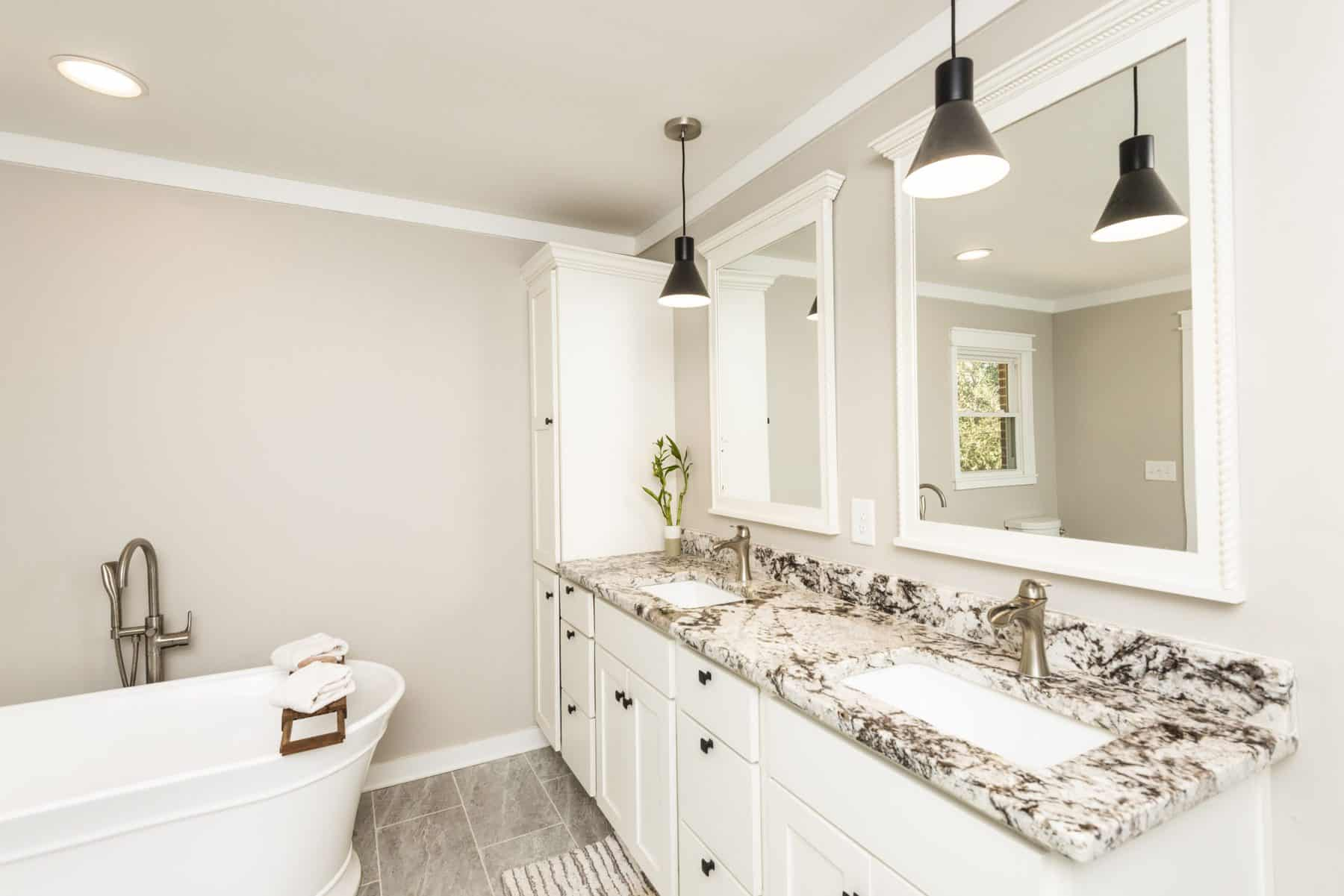 new dual vanity in owner's bath at home addition at home in Cartersville