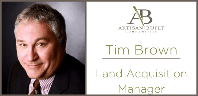 Tim Brown, Land Manager with Artisan Built Communities