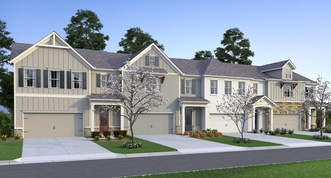 Haven at Stanley townhomes rendering