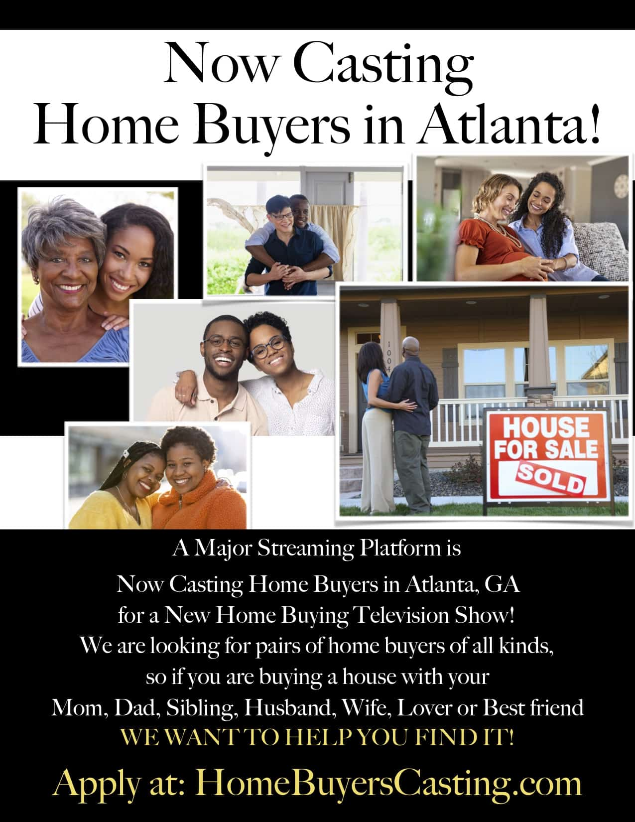 Atlanta Homebuyer Casting Call