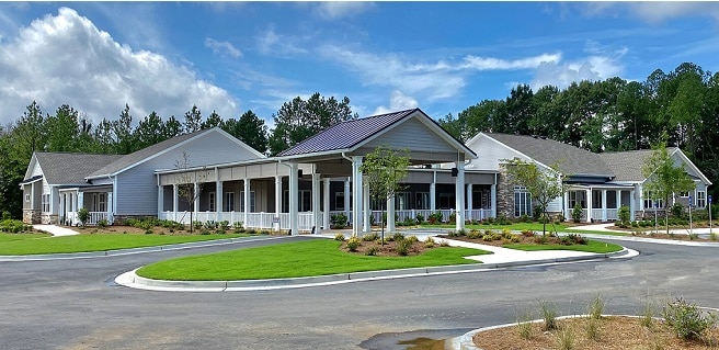 front elevation of Champions Place facility