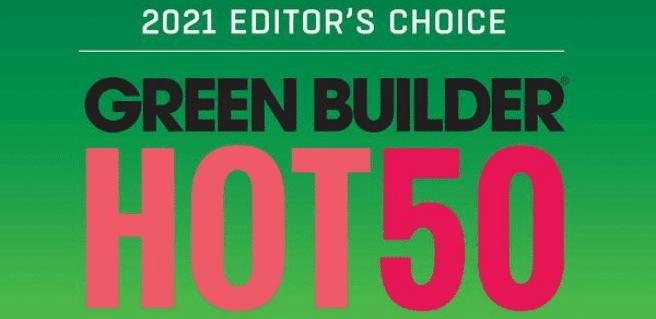 Green Builder Media Reveals Hot 50 Green Building Products