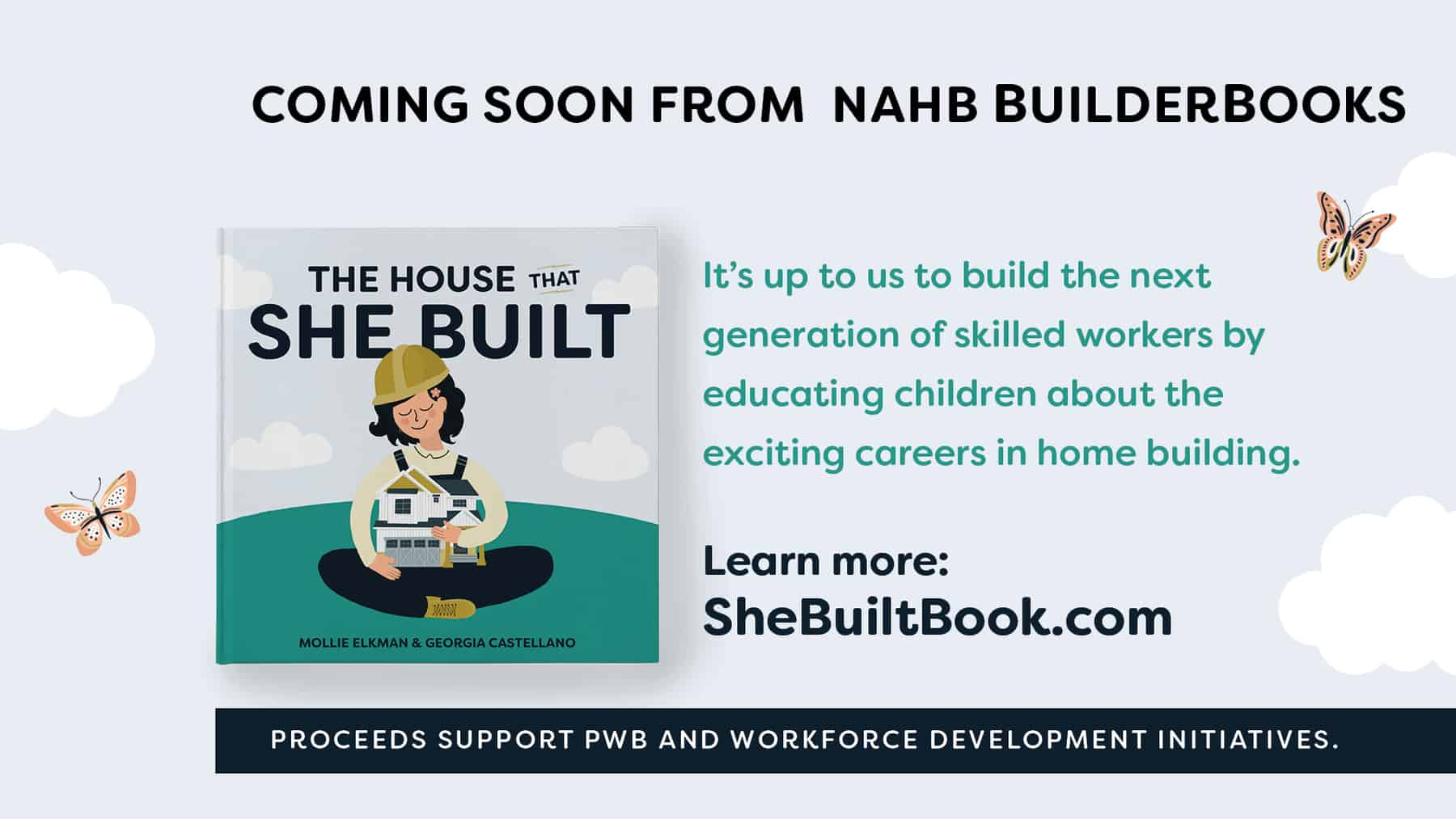 House That She Built Book promo