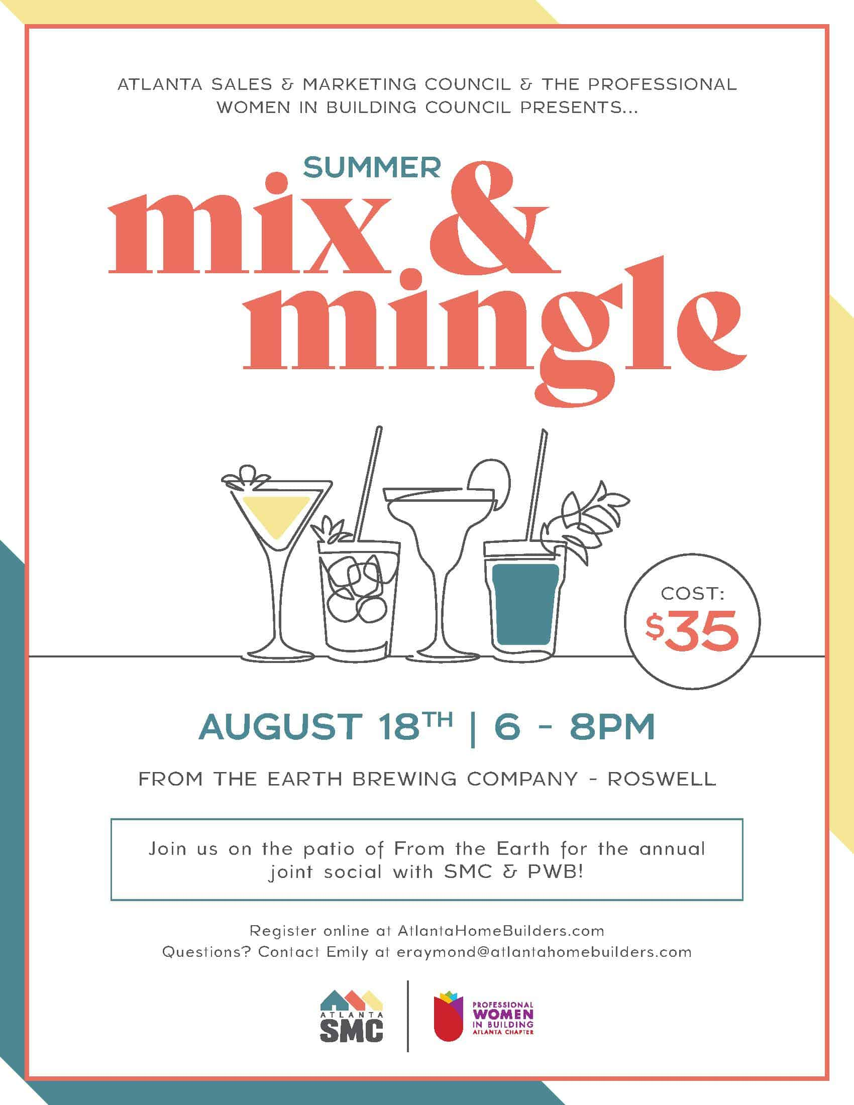 Atlanta SMC, PWB to Host Summer Mix and Mingle at Roswell Brewery