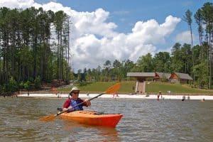 a Don Carter kayak beach