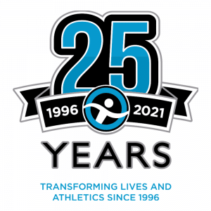 Graphic celebrating 25 years of adapted sports at the American Association of Adapted Sports Programs, Inc.