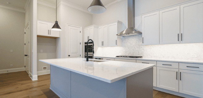 Photo highlighting the appliance package offered by Davidson Homes at Manor Estates